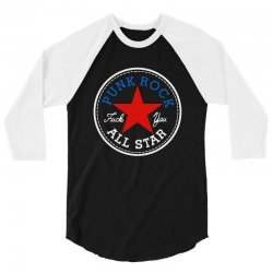 punk rock all star for dark 3/4 Sleeve Shirt | Artistshot