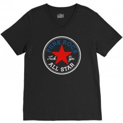 punk rock all star for dark V-Neck Tee | Artistshot