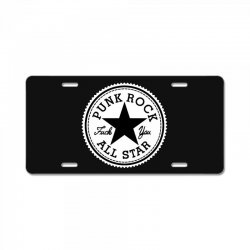punk rock all star License Plate | Artistshot