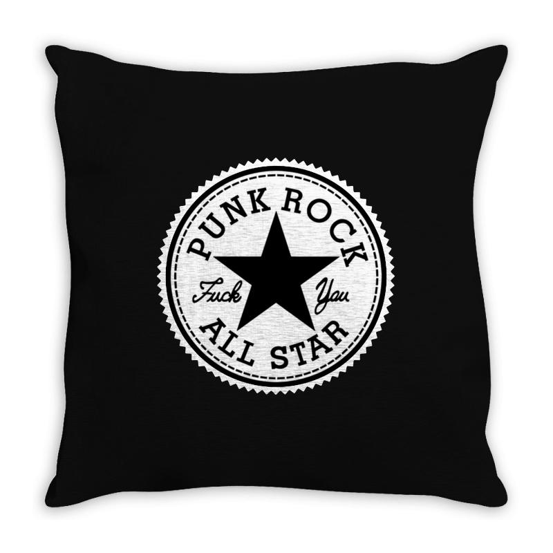 Punk Rock All Star Throw Pillow | Artistshot