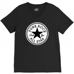 punk rock all star V-Neck Tee | Artistshot
