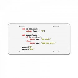 python code   i am cool License Plate | Artistshot