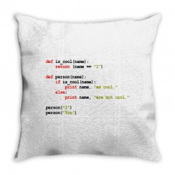 python code   i am cool Throw Pillow | Artistshot