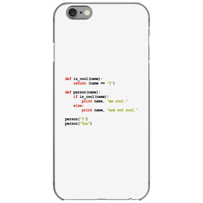 Python Code   I Am Cool Iphone 6/6s Case | Artistshot