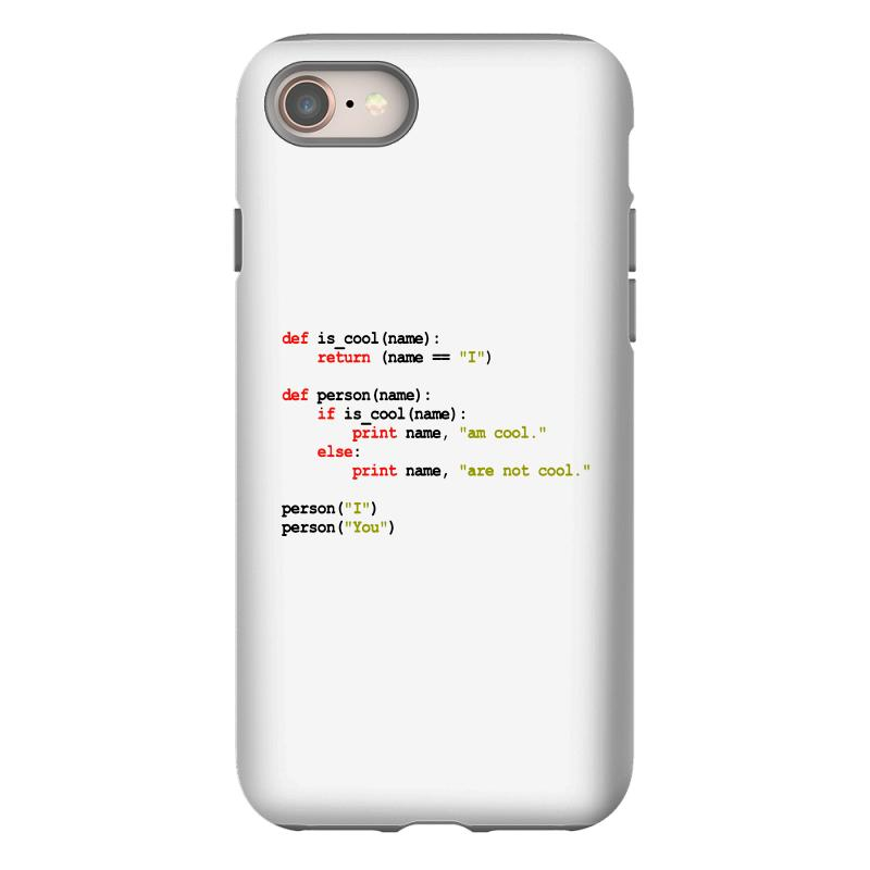 Python Code   I Am Cool Iphone 8 Case | Artistshot