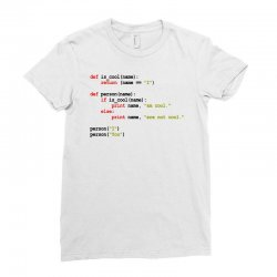 python code   i am cool Ladies Fitted T-Shirt | Artistshot