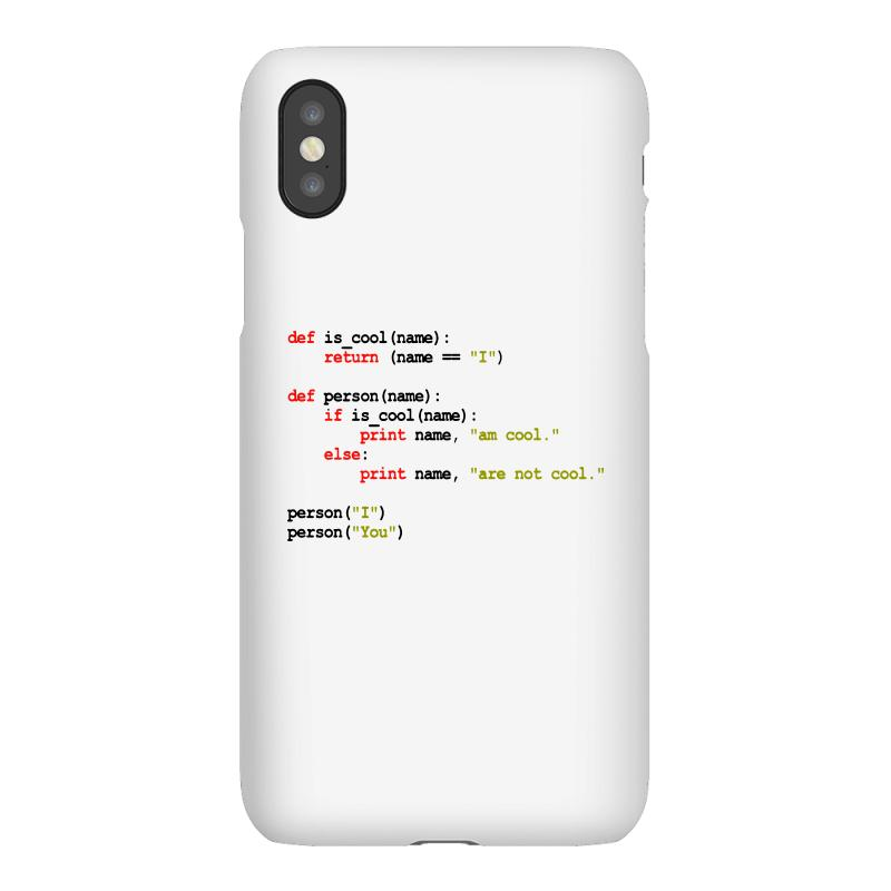 Python Code   I Am Cool Iphonex Case | Artistshot
