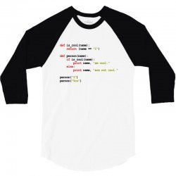 python code   i am cool 3/4 Sleeve Shirt | Artistshot