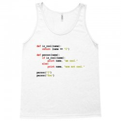 python code   i am cool Tank Top | Artistshot