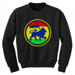 rasta flag lion Youth Sweatshirt | Artistshot