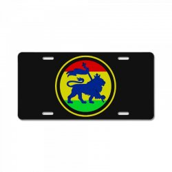 rasta flag lion License Plate | Artistshot