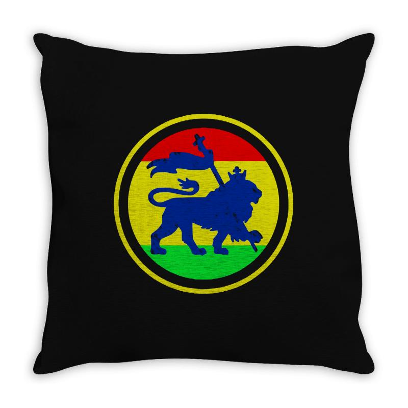 Rasta Flag Lion Throw Pillow | Artistshot