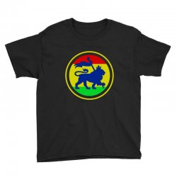 rasta flag lion Youth Tee | Artistshot