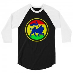 rasta flag lion 3/4 Sleeve Shirt | Artistshot