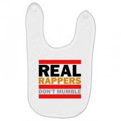 real rappers don't mumble Baby Bibs | Artistshot