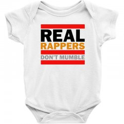 real rappers don't mumble Baby Bodysuit | Artistshot