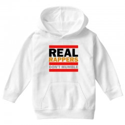 real rappers don't mumble Youth Hoodie | Artistshot