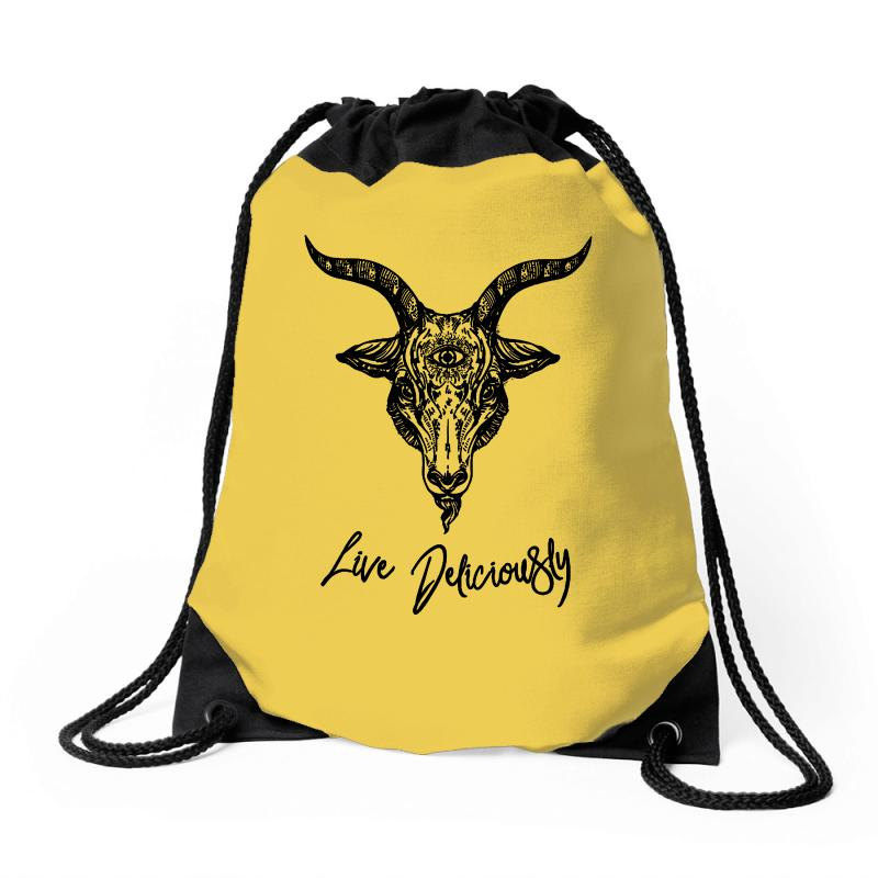 Black Metal Phillip Drawstring Bags | Artistshot