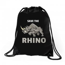 save the chubby unicorn Drawstring Bags | Artistshot