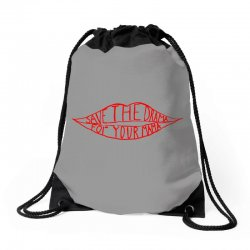 save the drama for your mama Drawstring Bags | Artistshot