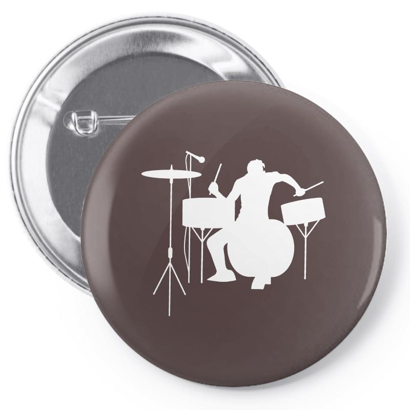 Drums Heartbeat   Funny Drummer Pin-back Button | Artistshot