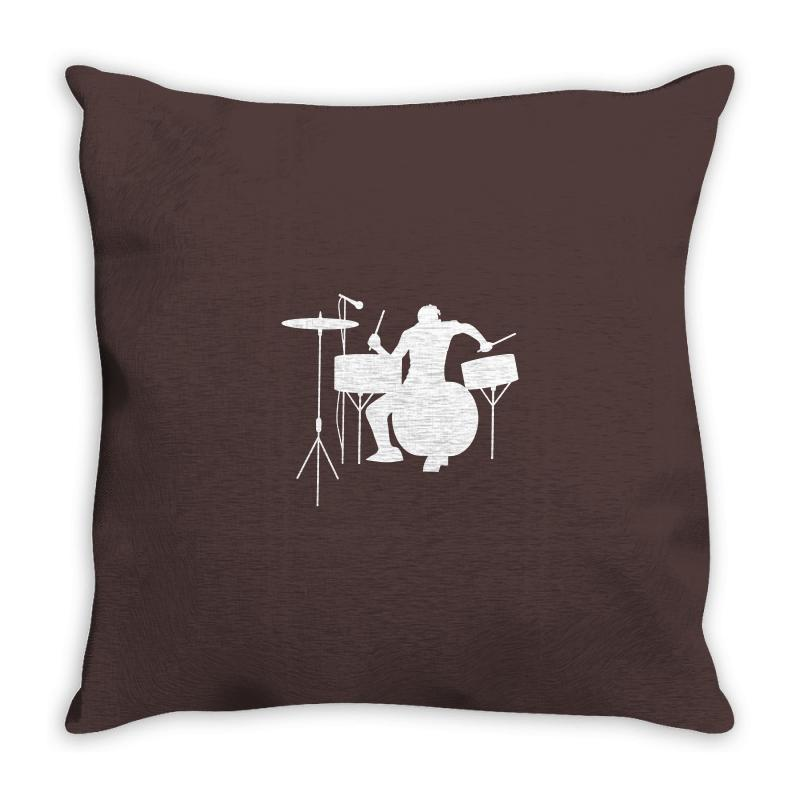 Drums Heartbeat   Funny Drummer Throw Pillow | Artistshot