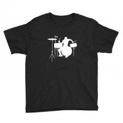 drums heartbeat   funny drummer Youth Tee | Artistshot