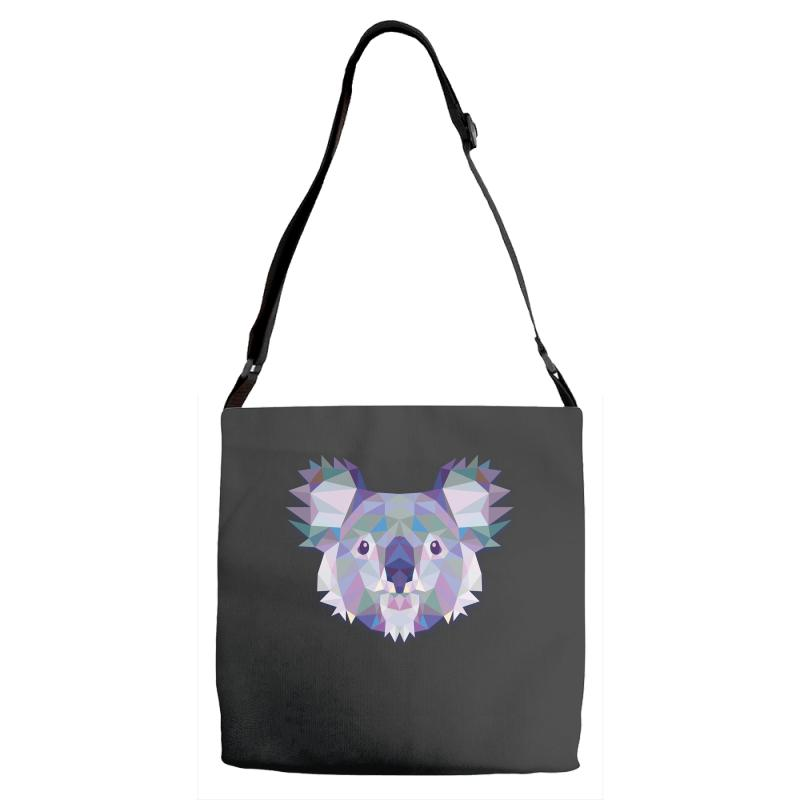 Geometric Koala Funny Animal T Shirts Adjustable Strap Totes | Artistshot
