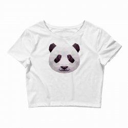 geometric panda bear funny animal t shirts Crop Top | Artistshot