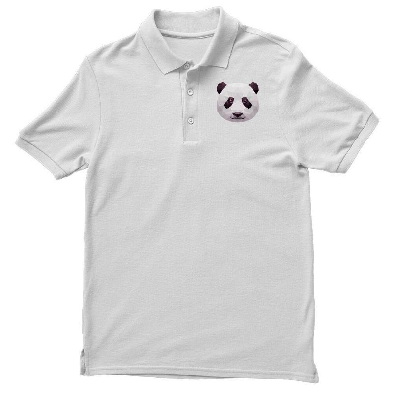Geometric Panda Bear Funny Animal T Shirts Men's Polo Shirt | Artistshot