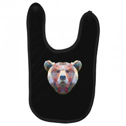 geometric bear funny animal t shirts Baby Bibs | Artistshot