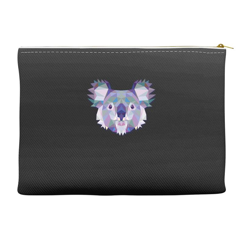 Geometric Koala Funny Animal T Shirts Accessory Pouches | Artistshot