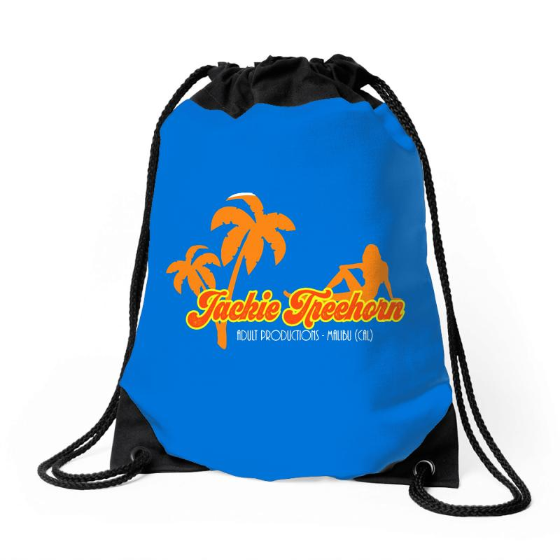Jackie Treehorn Productions Drawstring Bags | Artistshot