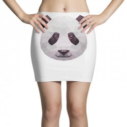 geometric panda bear funny animal t shirts Mini Skirts | Artistshot