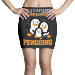 easily distracted by penguins t shirt Mini Skirts | Artistshot