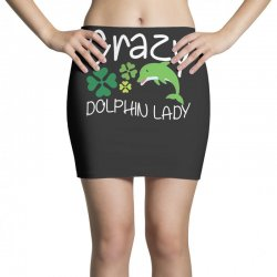 crazy dolphin lady t shirt Mini Skirts | Artistshot