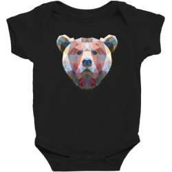 geometric bear funny animal t shirts Baby Bodysuit | Artistshot