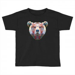 geometric bear funny animal t shirts Toddler T-shirt | Artistshot