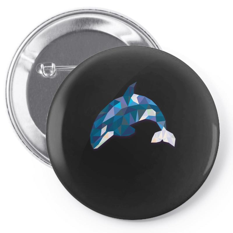 Geometric Orca Whale Funny Animal T Shirts Pin-back Button | Artistshot