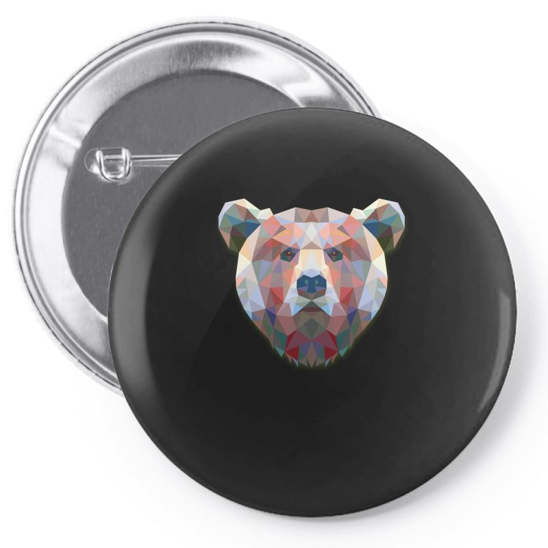 Geometric Bear Funny Animal T Shirts Pin-back Button | Artistshot
