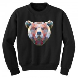 geometric bear funny animal t shirts Youth Sweatshirt | Artistshot