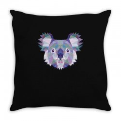 geometric koala funny animal t shirts Throw Pillow | Artistshot