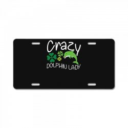 crazy dolphin lady t shirt License Plate | Artistshot