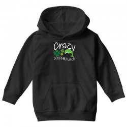 crazy dolphin lady t shirt Youth Hoodie | Artistshot