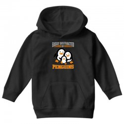 easily distracted by penguins t shirt Youth Hoodie | Artistshot