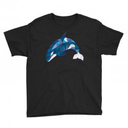geometric orca whale funny animal t shirts Youth Tee | Artistshot