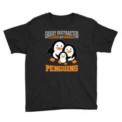 easily distracted by penguins t shirt Youth Tee | Artistshot