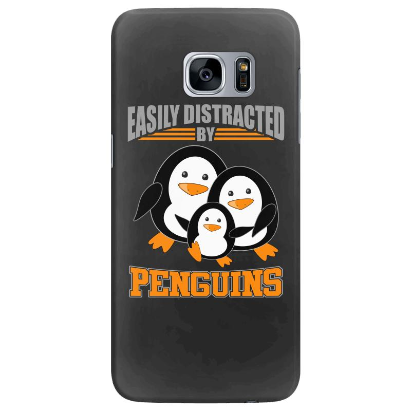 Easily Distracted By Penguins T Shirt Samsung Galaxy S7 Edge Case | Artistshot