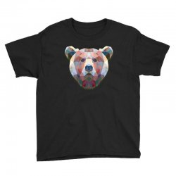 geometric bear funny animal t shirts Youth Tee | Artistshot