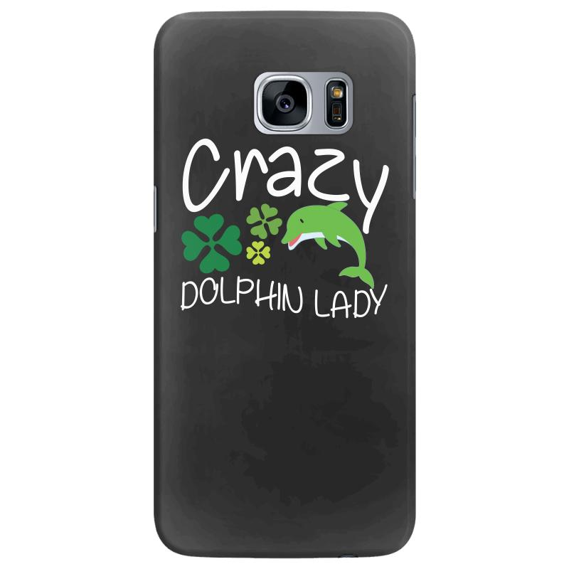 Crazy Dolphin Lady T Shirt Samsung Galaxy S7 Edge Case | Artistshot